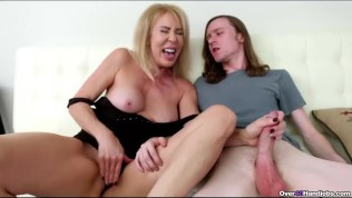 Sexy step mom off a huge dick