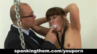 Sexy girl gets spanked