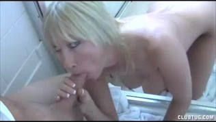 Hot Milf Jerks Off Pool Boy's Huge Cock For Good