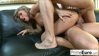 Hot MILF Vivien takes all the cock for herself