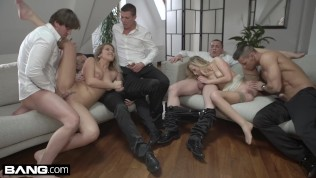 Glamkore - Vinna & Nikky take on five guys for a group fuck