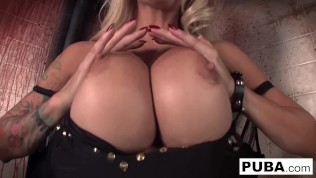 Big boobed Helly plays with herself in the boiler room