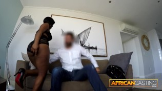 African Slut Trades Tits and Ass for a Job