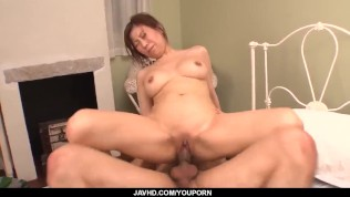 Gorgeous Chihiro Akino amazes with her slow blowjob - More at javhd.net