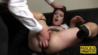Ass belted sub pounded