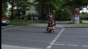 Public blow and fuck on the streets