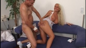 Doctor wants to check out nurses big tits (CLIP)