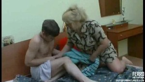 Mature MILF fucks young guy
