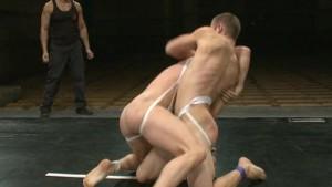 Muscle studs oil wrestling!