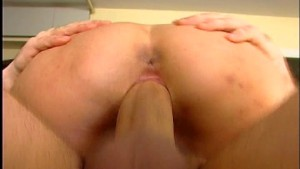 Kitchen counter good launching pad for blowjob