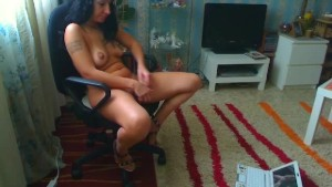 sexy milf playing while watching a movie part-1