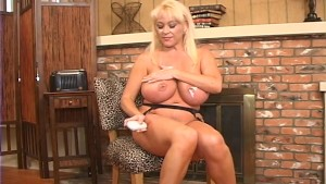 Kandi Cox shows off her big tits and hot pussy