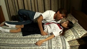 Tight Asian schoolgirl pussy gets fucked