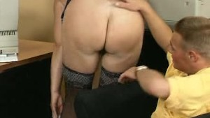 Mature shows her tits and hairy pussy..