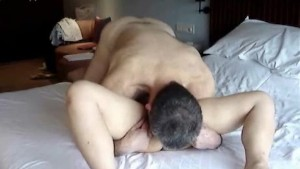 Interracial couple hotel room sex tape