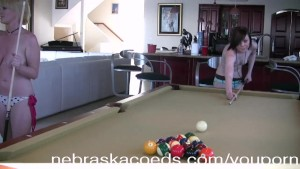 Naked Pool Playing College Girls Part1
