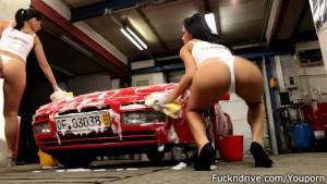 Sexy car wash.