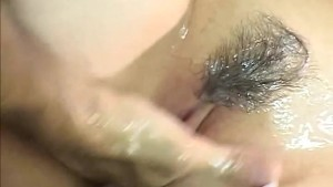 Hot shower turns into an oily mess with a sexy Japanese MiLF
