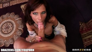 Syren De Mer is a MILF with a round ass who loves rough anal