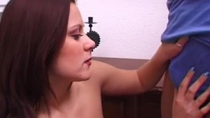 French babe Shows Off Her Tits and Blow a random guy - Telsev