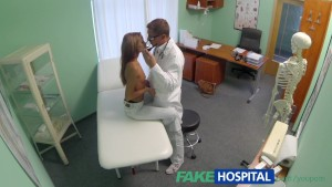 FakeHospital Spying on hot young babe having special treatment from the doctor pov creampie