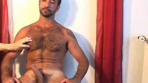 Kamel a sexy sport trainer gets wanked his big dick by us !