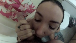 Funny and Sloppy POV after shower blowjob. Rush and Lia take 3.