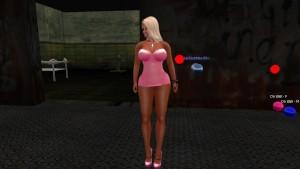 Lamar qui reluque une jolie blonde dans la rue