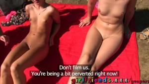 Girlfriends Lesbian lovers find secret spot in forest to eat sweet pussy