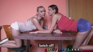 Girlfriends Hot lesbians play cards before getting a taste of sweet shaved pussy