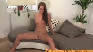FakeAgent Super Cute brunette amateur takes juicy Creampie in Office