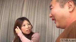 Dominant Japanese woman tease cross-dressing man English Subtitles