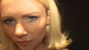 Hot blond gets a deep risky creampie