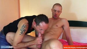 Full video: An innocent room service guy serviced his big cock by a guy!