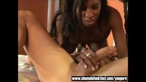 Black Shemale Natasha and MIss Brazil - Shemale Fuck Fest