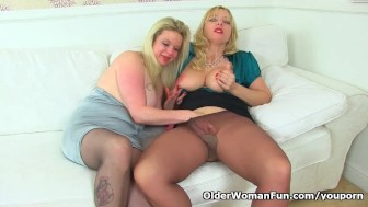 English milf Lucy loves to eat Summer's fanny