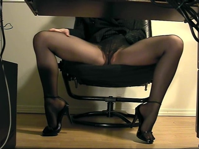 Hidden Under Desk Masturbation