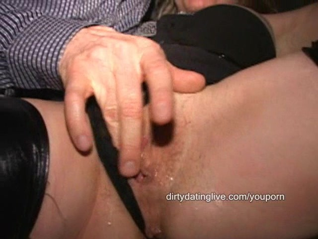 Amateur wife rides sybian at sex club