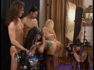 The Swinger Experience Presents Motorcycle photoshoot turns into a hot foursome