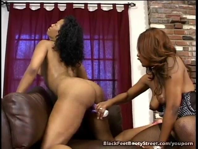Black Lesbian Anal Dildo