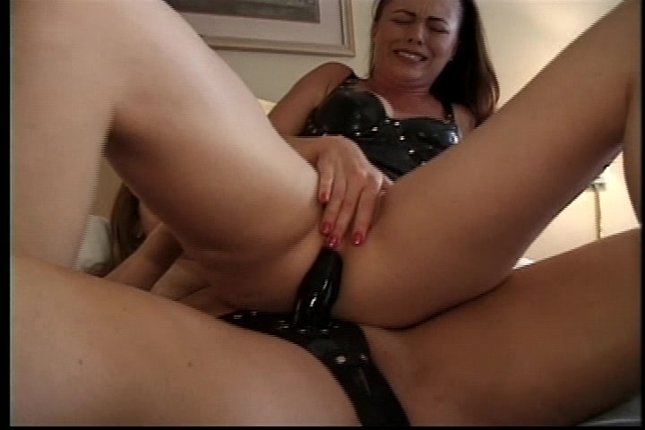 Hot lesbian with strap on