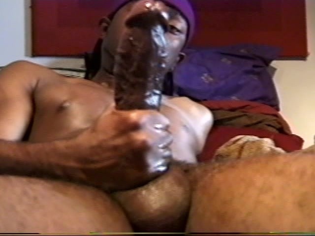 Huge Black Cock Jacking Off