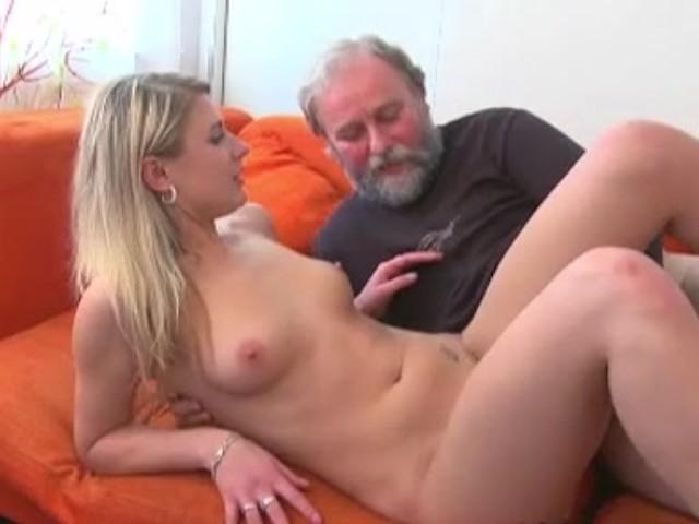 Old Man Fucks A Blonde Teen Girl While Her Boyfriends -1673