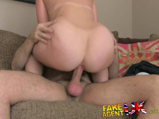 FakeAgentUK Beautiful red head scores surprise pussy filling in counterfeit casting