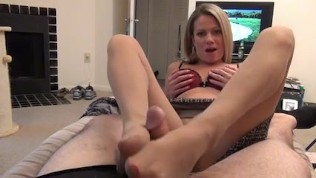 Hot StepMom Helps StepSon Cum