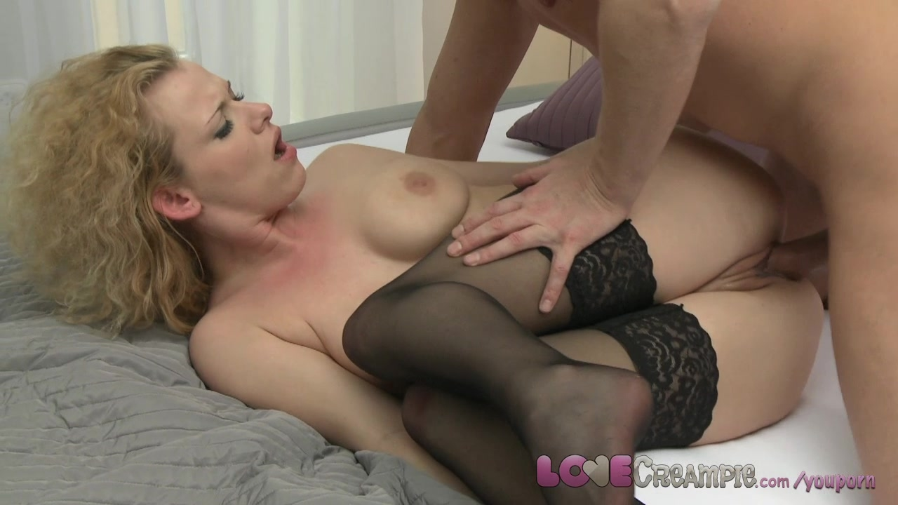 Mature stockings creampie