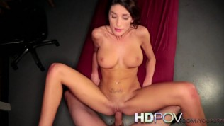 HD POV Hot Brunette with Big Tits Loves to bounce on your Big Cock