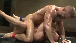 Sweaty And Hot Hunks Wrestle To Fuck