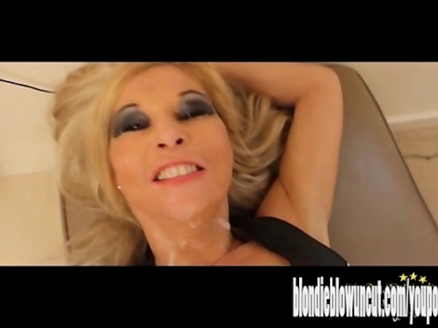 Blonde Milf Footjob Pov