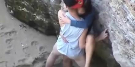 Voyeur Video of a Couple Having Intense Sex at the Beach - Free Porn Videos  - YouPorn